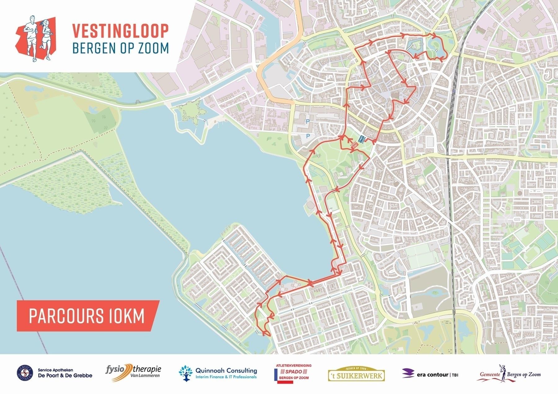 Mijn volgende corona-proof 10 km wedstrijd, de Vestingloop Bergen op Zoom.
